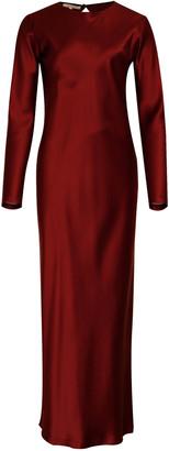 LA COLLECTION Jacqueline Silk-Satin Maxi Dress