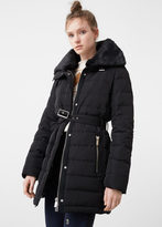MANGO Faux-Fur Feather Down Coat