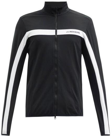 J. Lindeberg Jarvis Zipped Mid-layer Jacket - Black