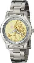 Disney Women's W001821 Belle Analog Display Quartz Silver Watch