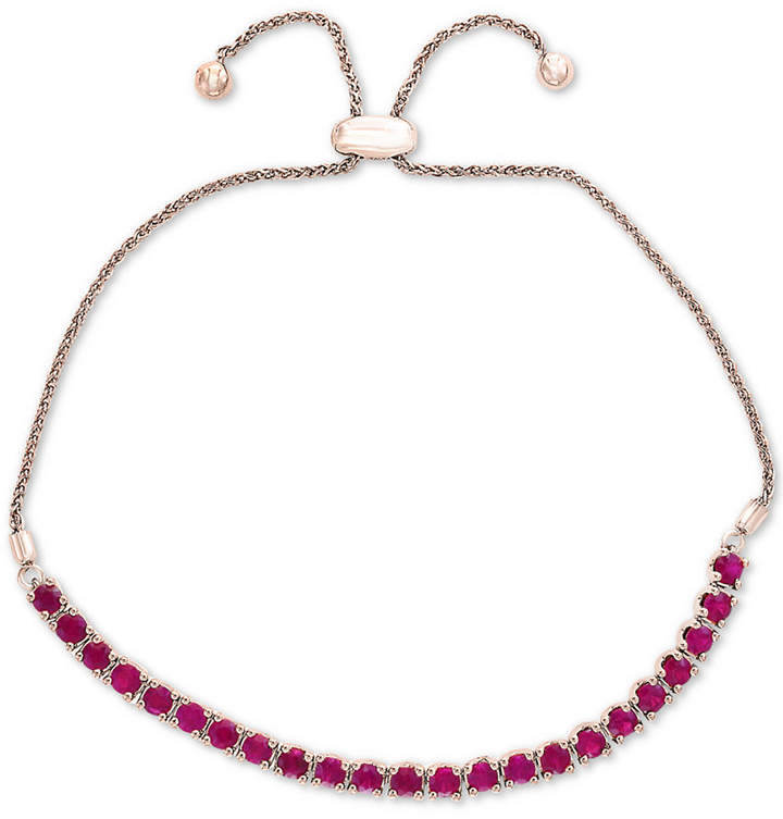 Effy Certified Ruby Slider Bracelet (2 ct. t.w.) in Sterling Silver