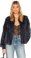 Heartloom Poli Dyed Rex Rabbit Fur Jacket