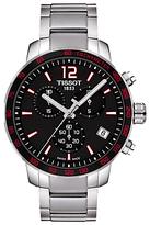Tissot T0954171105700 Quickster Chronograph Date Bracelet Strap Watch, Silver/black
