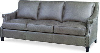 "Century Furniture Ashten Leather Sofa, 82"""