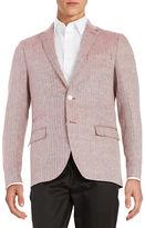 Black Brown 1826 Linen Two-Button Jacket