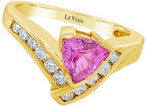 LeVian Corp Le Vian Grand Sample Sale Ring featuring Bubble Gum Pink Sapphire set in 14K Honey Gold Family