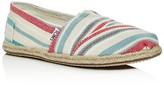 Toms Women's Woven Stripe Espadrille Flats