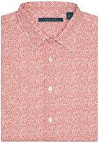 Perry Ellis Short Sleeve Mini Floral Print Shirt
