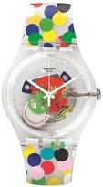 Swatch Women's New Gent SUOZ213 Silicone Swiss Quartz Watch