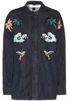 Victoria Victoria Beckham Embroidery and appliqué denim jacket