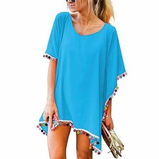 JMITHA Swimsuit Cover Up for Women Chiffon Tassel Beachwear Swimwear Beach Dress Bathing Suit Cover up Summer