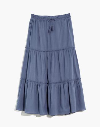 Madewell Drawstring Tiered Maxi Skirt