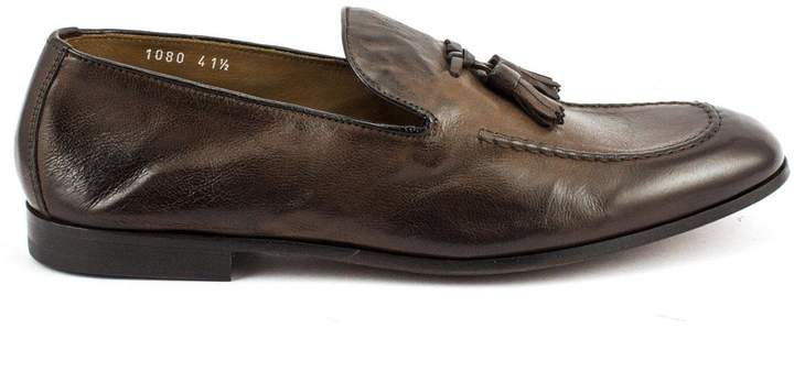 Doucal's Brown Soft Leather Loafer