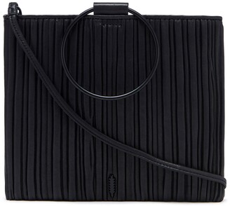 THACKER Le Pouch Pleated Leather Crossbody Bag