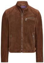 Ralph Lauren Randall Suede Biker Jacket