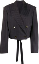 Acne Studios cropped fitted blazer
