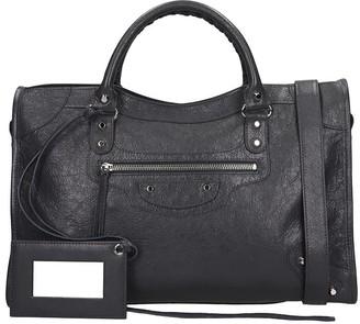Balenciaga Class City Aj Shoulder Bag In Grey Leather