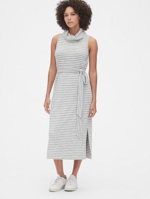 Gap Softspun Turtleneck Tie-Belt Midi Dress
