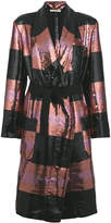 Odeeh striped sequin coat