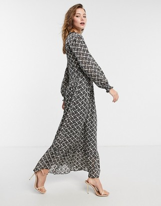 Maison Scotch printed maxi dress