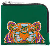 Kenzo Embroidered tiger zip wallet