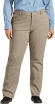 Dickies Plus Size Perfect Shape Straight-Leg Twill Pants