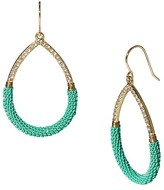 ABS by Allen Schwartz Chain Wrap Teardrop Earrings