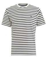 Carhartt Mens T-Shirt, Striped Champ White Navy Tee