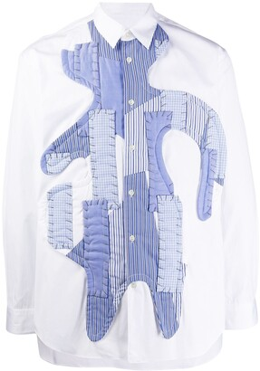 Comme des Garcons long-sleeved patchwork shirt