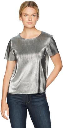Kensie Women's Pleated Shine Midi Top