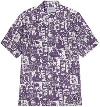 Carhartt Wip Collage printed cotton-blend shirt