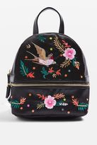 Topshop Satin Bird Embroidered Backpack