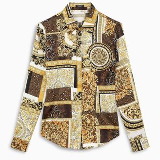 Versace Baroque patchwork print shirt