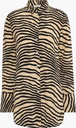 By Malene Birger Zebra-print Crepe De Chine Shirt