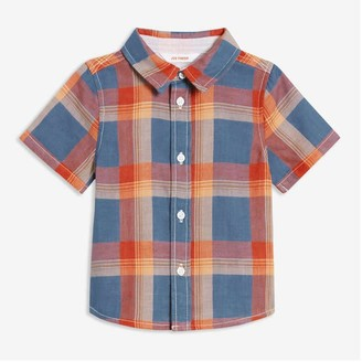 Joe Fresh Baby Boys' Short Sleeve Shirt, Light Navy (Size 6-12)