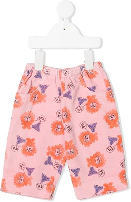 The Animals Observatory Lion Print Shorts