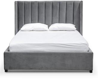Wilson Bed Charcoal Velvet Queen