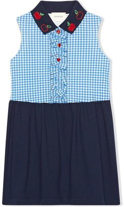 Gucci Kids Apple Embroidered Sleeveless Dress