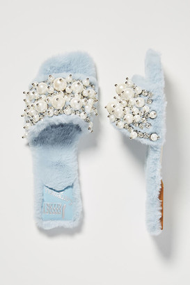 Jeffrey Campbell Facil Embellished Slide Slippers By in Black Size 6