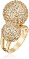 Cara Double Pave Ball Ring, Size 8