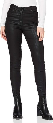 Find. Animal Print Coated Skinny Jeans