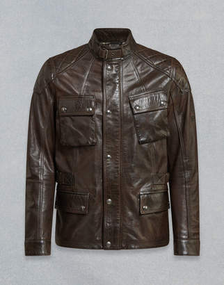 Belstaff TURNER LEATHER JACKET Brown