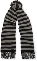 Saint Laurent - Striped Wool Scarf