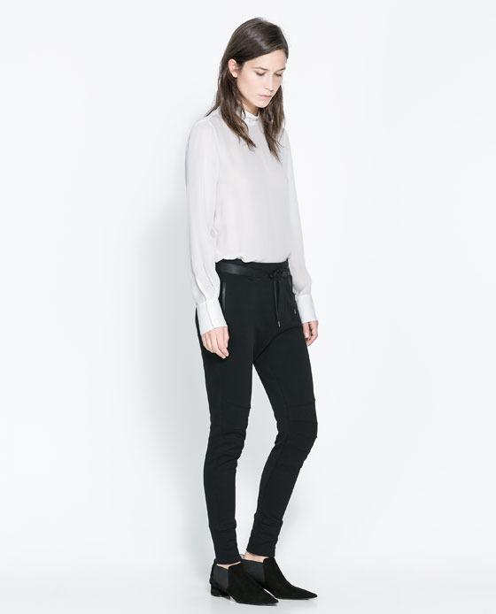 Zara Cotton Biker Trousers