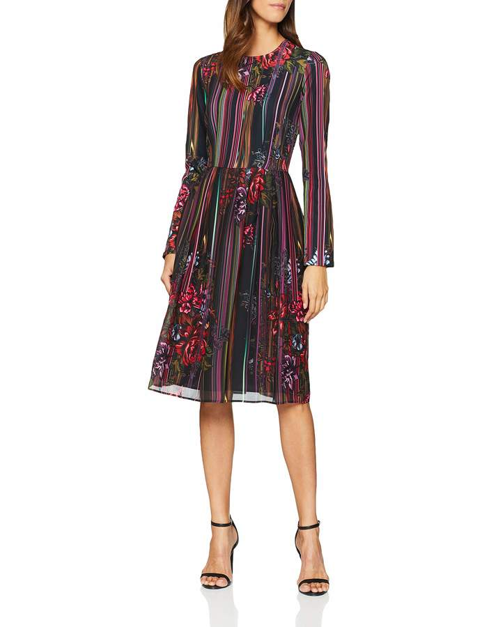 Silvian Heach Women's Gatton Dress Multicolour Fantasia 1 XS