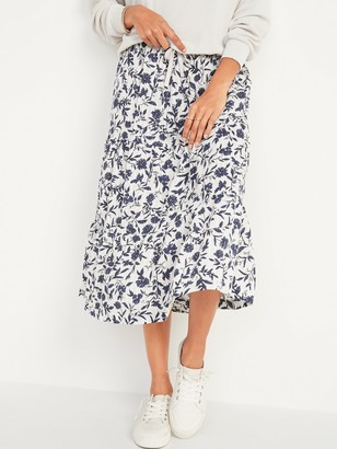 Old Navy Printed Tiered-Hem Maxi Skirt for Women