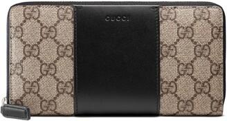 Gucci GG Supreme zip around wallet