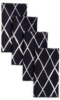 Minted Criss Cross Set Of 4 Napkins