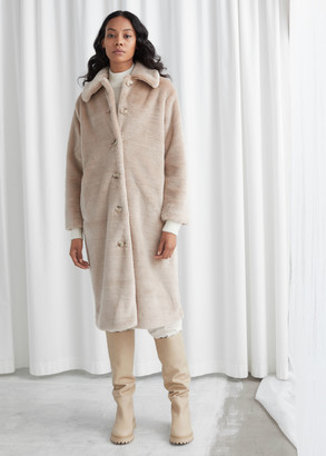 And other stories Faux Fur Long Coat