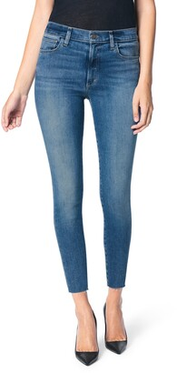 Joe's Jeans The Charlie High Waist Raw Hem Ankle Skinny Jeans